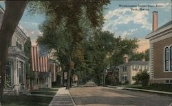 Washington Street from Elm Postcard