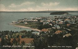 Bar Harbor from Eden Heights Postcard