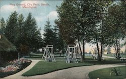 Playground, City Park Postcard
