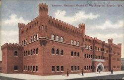 Armory, National Guard of Washington Postcard