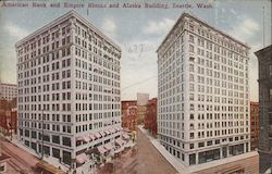 American Bank and Empire Blocks and Alaska Building Postcard