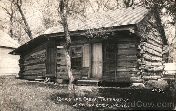 Cooks Log Cabin Tepeeotah, Lake Shetek Currie Minnesota