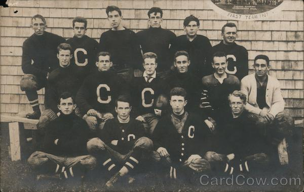 Cushing Academy First Football Team 1907 Ashburnham Massachusetts