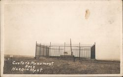 Custer's Monument Postcard