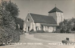 Church of the Recessional, Forest Lawn Postcard