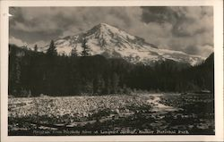 Mountain From Nisqually River at Longmire Springs Postcard