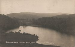 Pond View from Quebec Road, near Bingham ME Postcard