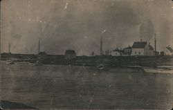 Bay with Boats and Houses, Indian Harbor Postcard