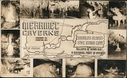 Meramec Caverns Worlds Oldest Five Story Cave Millions of Years Old a National Point of Interest Postcard