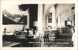 Dining Room, Chateau Lake Louise Postcard