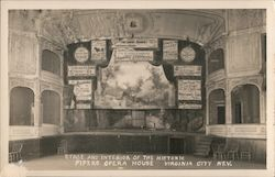 Stage and Interior of the Historic Pipers Opera House Postcard