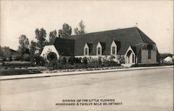 Shrine of the Little Flower - Woodward & Twelve Mile Road Postcard