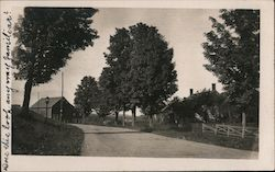 Rural Country Road, Probably Near Stowe Postcard