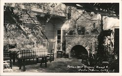 Patio - Will Rogers Ranch Postcard