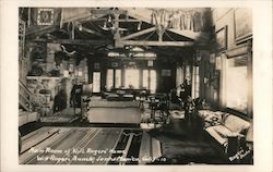 Will Rogers' House Main Room Postcard