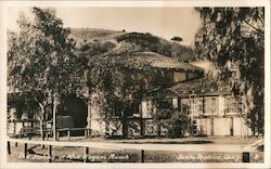The Stables at Will Rogers Ranch Postcard