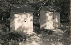 No Sit Down Strikers Here! Postcard
