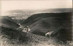 Valley View from Hilltop Postcard