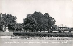 Victory Park on the Mississippi River Postcard