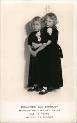 Dolores and Shirley, World's Only Midget Twins Postcard