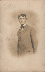 Portrait of a Young Man in a Suit Postcard