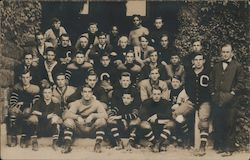 Cushing Academy Football Team, 1908 Postcard