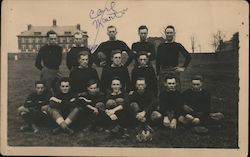 Football Team Postcard