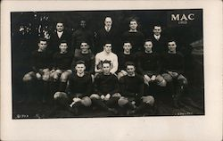 MAC 1913 Football Team University of Massachusetts Postcard