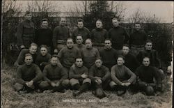 Rugby Team Postcard