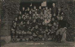 Cushing Academy Foot Ball Squad 1909 Postcard