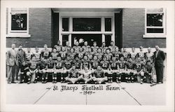 St Mary's College Football Team, 1949 Postcard