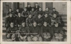 1921 Football Team Pullman Free School of Manual Training Postcard