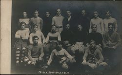 Feller Institute College Football Team 1908 Postcard