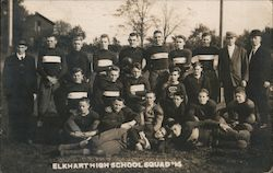 Elkhart High School Football Squad 1914 Postcard