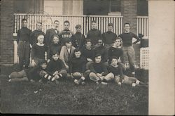 1911 Football Team - Black Teammate Postcard