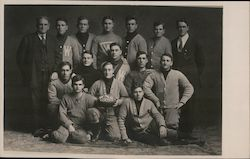 Whitewater Normal School 1909 Football Team University of Wisconsin Postcard