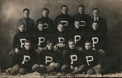 Pillsbury Academy Football Team 1908 Postcard