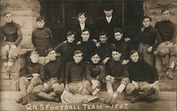 QHS Football Team - 1907 Quincy? Postcard