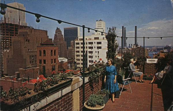 A View from the roof garden of Totham House Y W C A Murray Hill New York