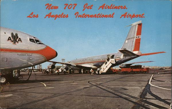 New 707 Jet Airliners. Los Angeles International Airport California