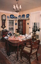 "The Dining Room in ""Home Sweet Home"" John Howard Payne Postcard"