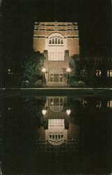 Main Entrance and Reflecting Pool, Purdue Memorial Union Postcard