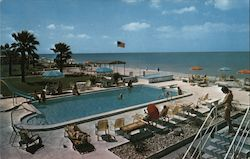 Sails & Gulf Terrace Motel Postcard