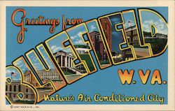 Greetings from Bluefield, Nature's Air Conditioned City Postcard