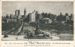 On the Parkway The Rob Morris Hotel at 17th and Arch Streets Postcard