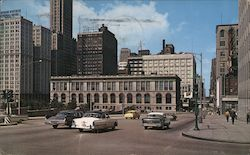 Chicago Public Library Postcard