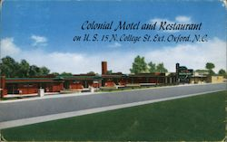 Colonial Motel and Restaurant on U.S. 15 N. College St. Ext. Postcard
