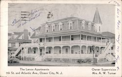 The Lenox Apartments, 7th St. and Atlantic Ave. Postcard