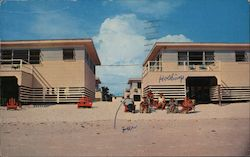 Windswept Beach Front Cottages Postcard