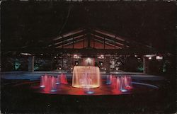 Lighted Fountain, Cape Coral Yacht and Racket Club Postcard